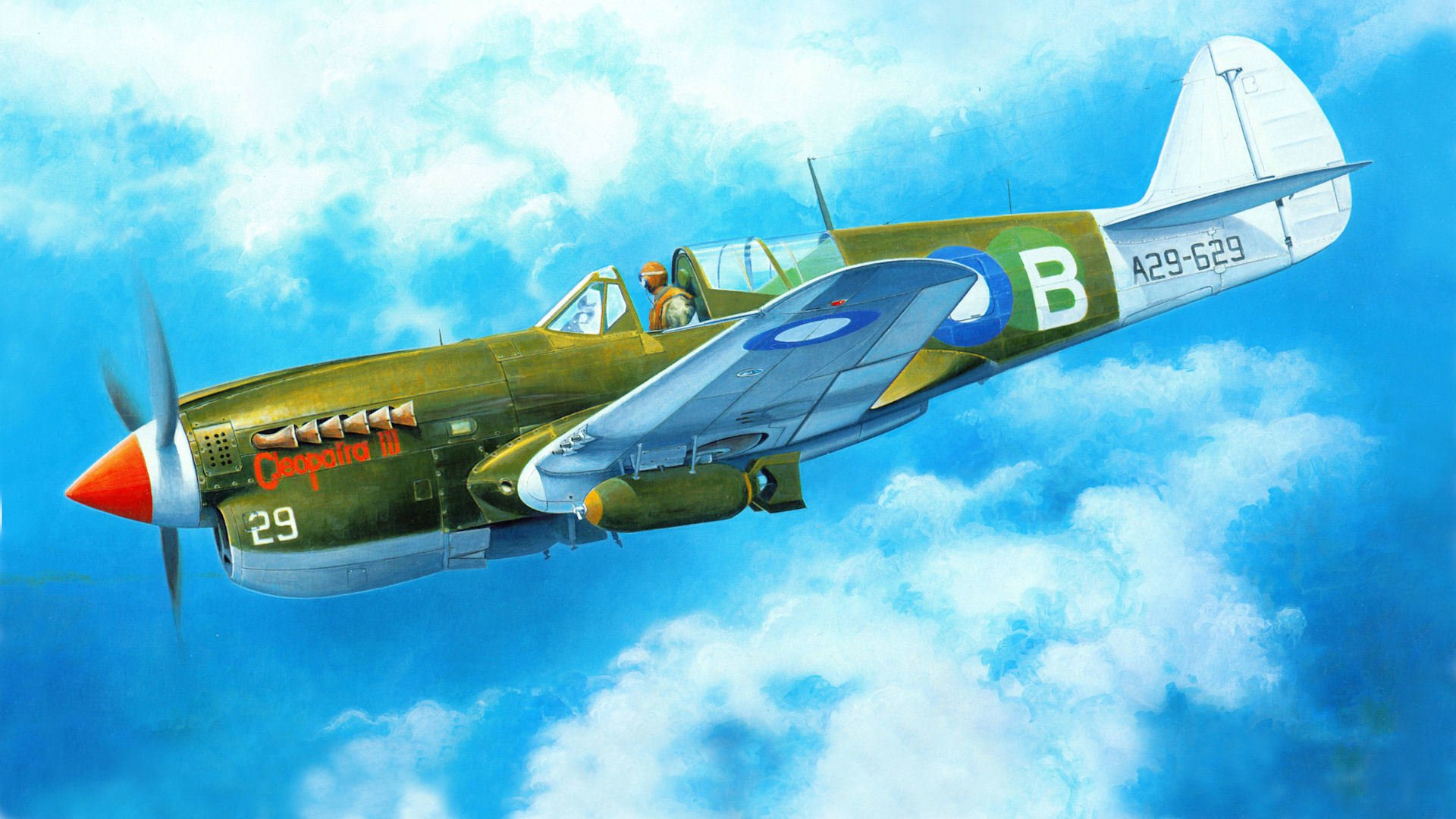 Обои painting, war, aviation, P 40 Tomahawk, ww2. Авиация foto 13