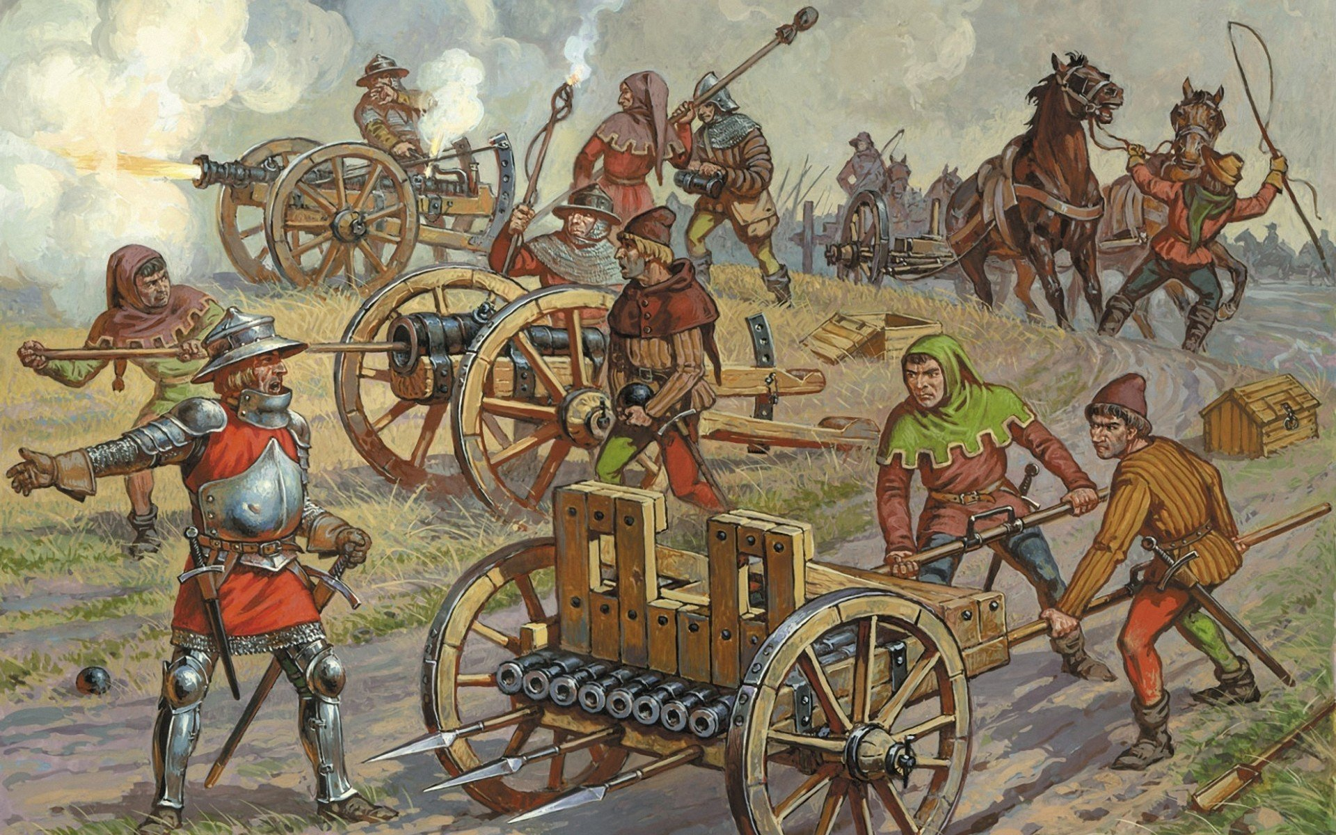 the development of the gunpowder and cannons during the middle ages Browse other questions tagged middle-ages 2-6-2008 during the high middle ages  middle ages catholic church dominated cultural beliefs and traditions before the.