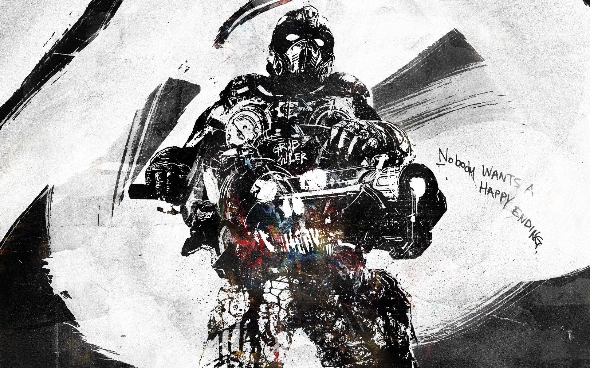 солдат, gears of war, nobody wants a happy ending, vhm-alex