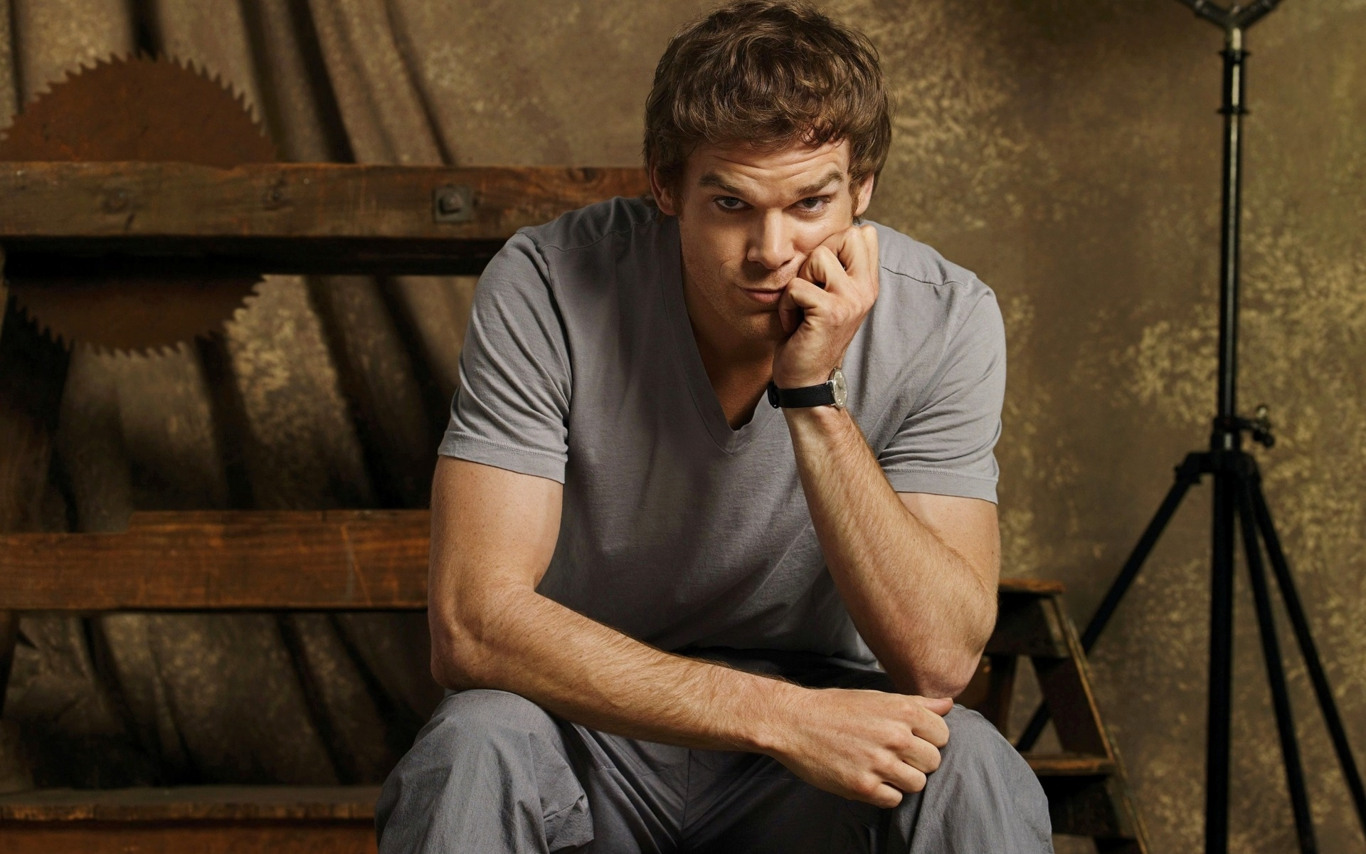 dexter, michael c. hall, взгляд, сериал